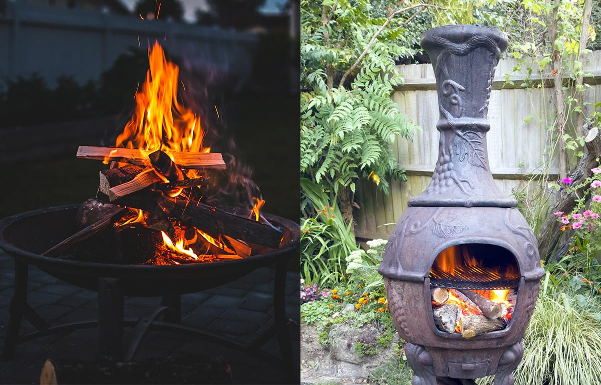 Fire pit - Chimineas Vs. Fire Pits - Stone Hearth Firewood